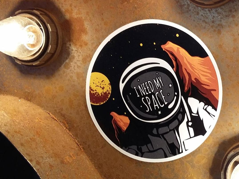 I need my space print scifi art scifiart scifi uk illustrators retro spaceman sticker design uk illustrator stickers illustration