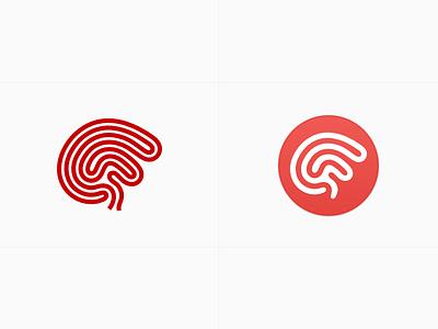 Logo Modernization ariadne logo brain