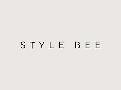 Style Bee Logo typography vector black and white branding minimal simple modern sans serif logo style bee