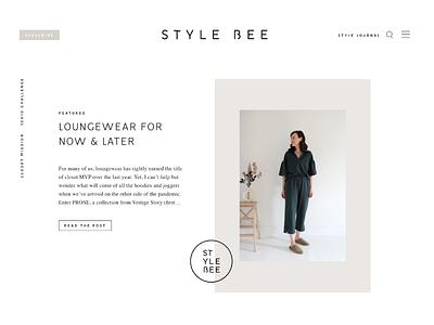 Style Bee Website ux branding typography ui wordpress development development wordpress minimal simple modern