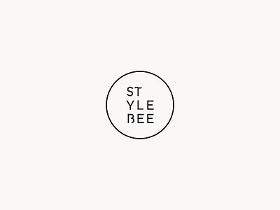 Style Bee Logo Mark vector black and white typography geometric branding logo minimal simple modern