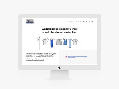 The Minimalist Wardrobe Website ux ui minimal simple modern vanilla javascript fast website shopify development shopify website