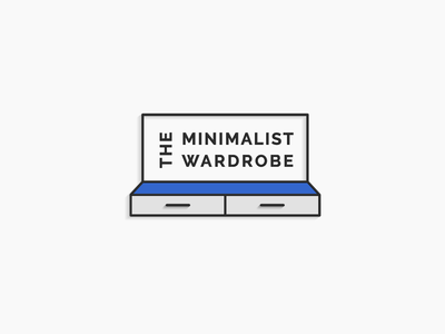 The Minimalist Wardrobe Revised Logo design icon vector 3d logo logo branding simple modern minimalism wardrobe minimalist