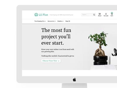 Lil Plot Shopify Website ux ui minimal simple modern web development development shopify development shopify website