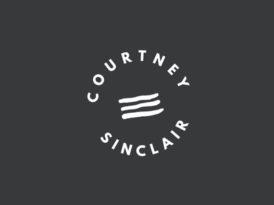 Courtney Sinclair Logo Mark minimal simple hand drawn sans serif modern black and white