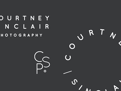 Courtney Sinclair Logo Marks minimal typeface sans serif white gray