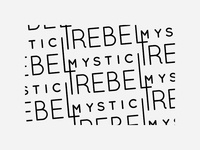Mystic Rebel Typeface Pattern