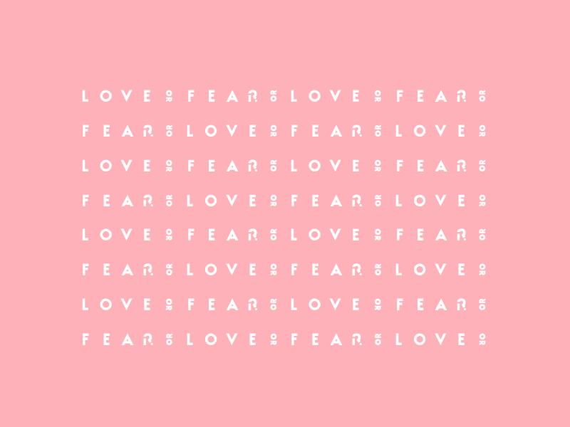 loveOrfear Pattern white pink pattern typography design branding minimal sans serif simple modern