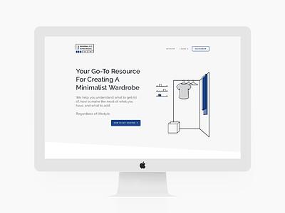 The Minimalist Wardrobe Website Homepage branding line art minimal illustration homepage website simple modern