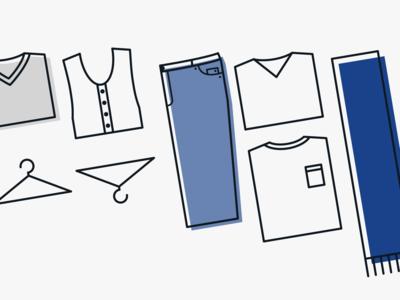 The Minimalist Wardrobe Illustration Section