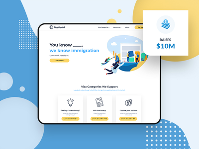 Legalpad Raises $10M visa外卡手输机怎么代办 legal office legal adviser legaltech legal investor investing invest investments investment raised raise sponsored sponsors sponsor sponsorship visa immigrants immigrant immigration