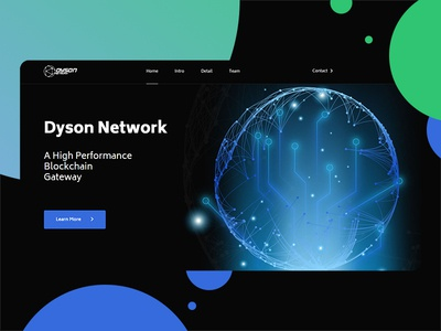 Dyson - Blockchain website gateway crypto currency crypto exchange cryptocurrency crypto bitcoin website design web design webdesign website web dark app dark theme dark mode dark ui dark black block chain blockchain dyson