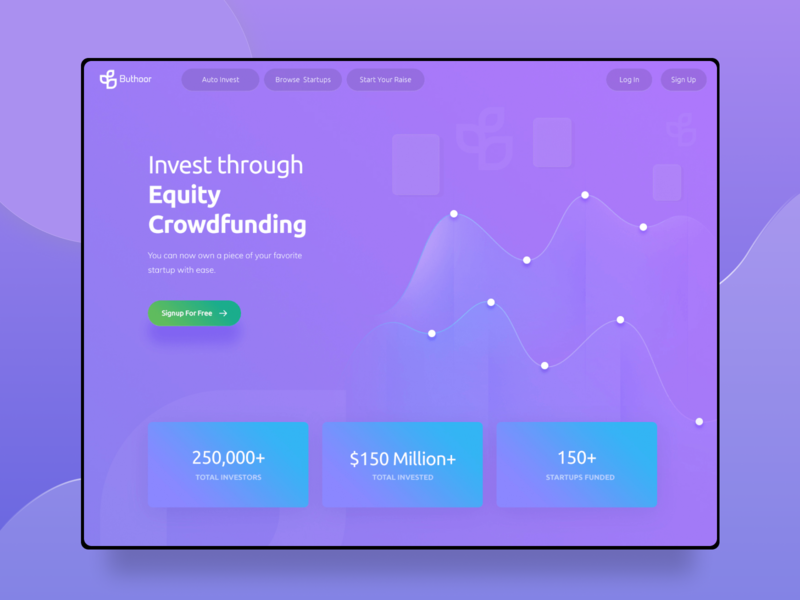 Buthoor - Crowdfunding Website website homepage startup funding raised raise investments investing investor investment invest equity business loans equity crowdfunding campaign crowd crowd funding crowdfund crowdfunding violet purple
