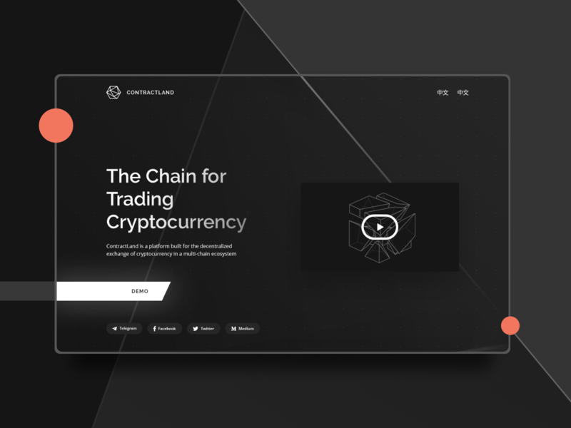 ContractLand - Crypto Web Design ethereum eth bitcoin black and white blackandwhite black  white dark theme dark mode dark app dark ui dark black crypto exchange crypto currency crypto wallet cryptocurrency crypto trading trade chain