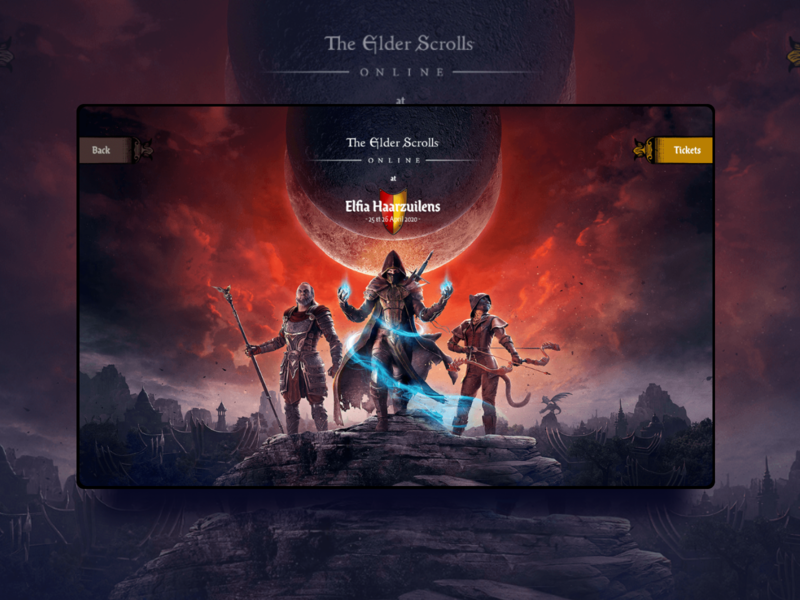 The Elder Scrolls Website Design dark theme blizzard entertainment blizzard the witcher gog gamestore gameshow gaming app gaming website gaming elfia witches witcher elder scrolls game of thrones game design games design game art game games