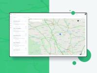 Map UI Design carservice cars gps tracker gps ux design uxdesign ux  ui uxui ux ui design uidesign ui  ux uiux ui mapping mapstr mapbox maple maps map