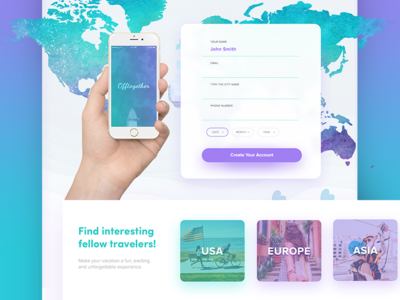 Travel Website Design - Offtogether