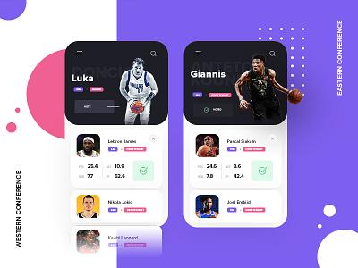 NBA All-Star Mobile App nba dribbble ui  ux ui app design app mobile app mobile ui mobile adidas nike sneakers basketball all-star
