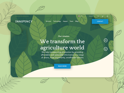 Innovincy - Agriculture Website Design