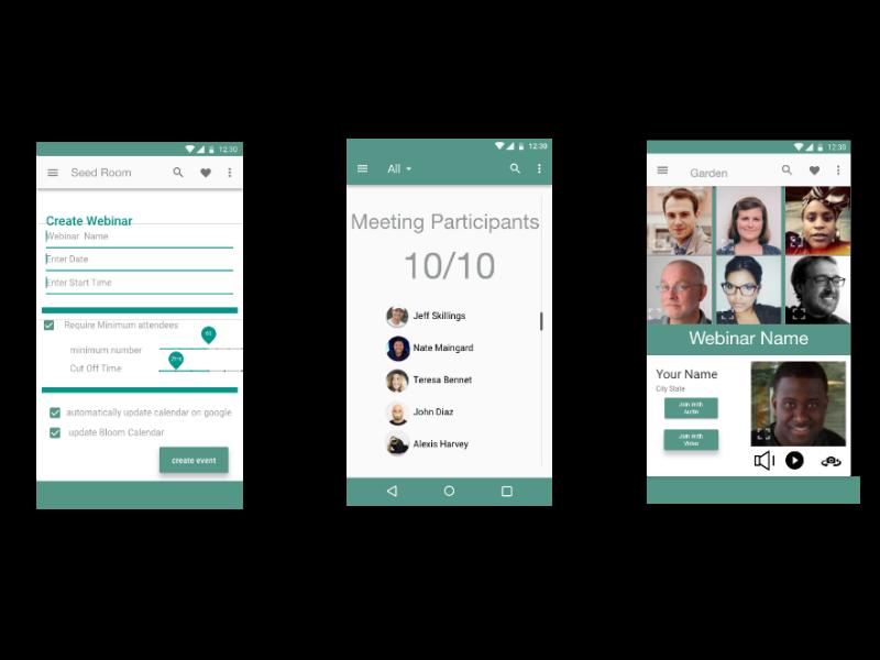 Bloom Conferencing Application adobexd mobile design ios