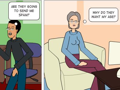 Comics to illustrate user concerns