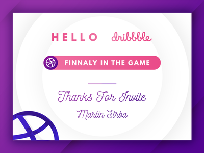 Debut shot switch first shot draft letter invitation dribbble hello debut