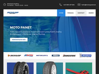 Pneu shop homepage slider flat homepage eshop shop blue webdesign web slovakia slovak