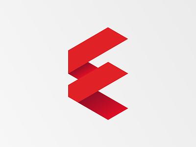 Letter F slovakia slovak grid hexagon simple logo glyph red design symbol flat letter