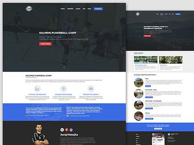 Floorball camp webdesign camp ux ui blue sport floorball web slovakia slovak design