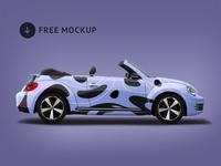 Volkswagen Beetle Branding Mockup
