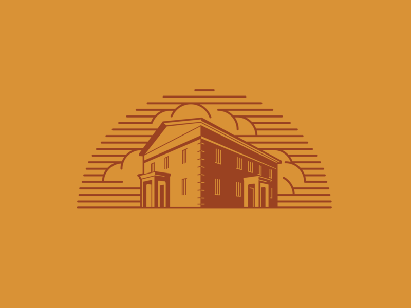 Look! The Jailhouse! vector vectorart logo jailbreak architecture structure coffee shop branding coffeeshop coffee branding coffee jericho jailhouse jail