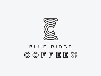Blue Ridge Coffee Co-op coffee identity identity design branding and identity logo design pour over logo coffee coffee logo coffee logo