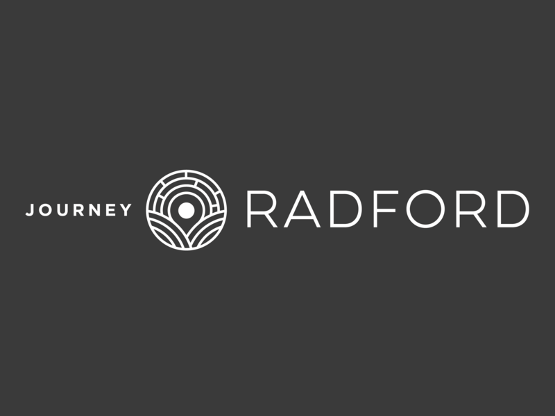 City Of Radford Branding journey radford virginia travel destination logodesign branding city branding