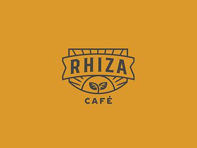 Rhiza Coffee Concept rooted growth plants branding design logodesign coffee logo branding coffee shop logo peru coffee