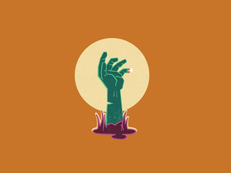 Uh oh, guys. hand illustration zombie hand zombie illustration halloween illustration halloween design halloween