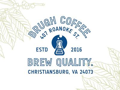 Brugh Coffee Lockup coffeepackaging packaging packagingdesign branding clean lockup typography logodesign logo coffeebranding coffeeshop coffee