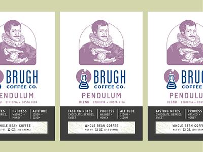 Pendulum Label - Brugh Coffee packaging branding illustration coffee packaging label design packaging design coffee branding coffee bag