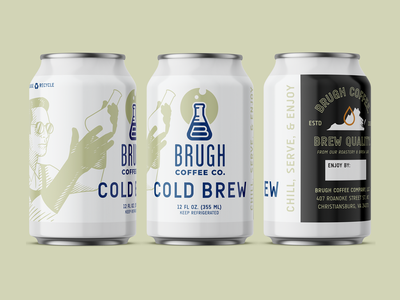 Cold Brugh coffee branding label design can label packaging design coffee packaging cold brew