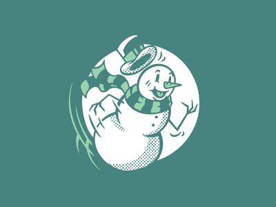 Frosty 5k holiday christmas snowman frosty running 5k character illustration