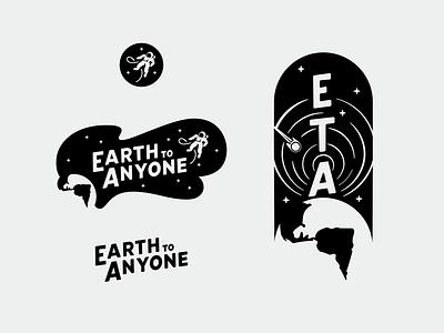 Earth to Anyone vector illustration space vector illustration branding band merchandise band logo band