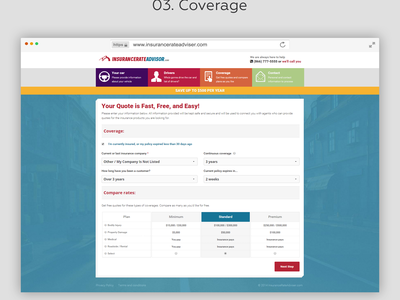 Insurance rate search forms in 4 steps steps form insurance search insurance rates insurance