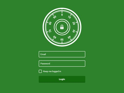 Simple Login Page for CRM
