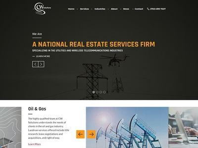 CW Solutions Redesign telecommunications wireless utilities real estate