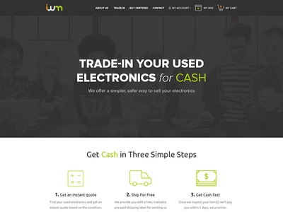 ItsWorthMore Redesign e-commerce electronics trade