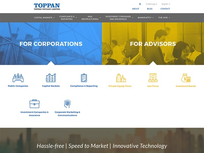 Toppan Vintage corporate technology communications printing financial financial printing