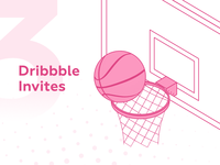 3 Dribbble Invites welcome player giveaways giweaway invites invite drafts draft