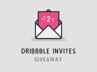 2x Dribbble Invites Giveaway invites giveaway invites invite giveaway drafts draft welcome