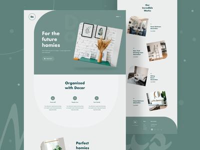 Decore Landing Page Design Concept