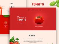 TOMATO - Web design concept