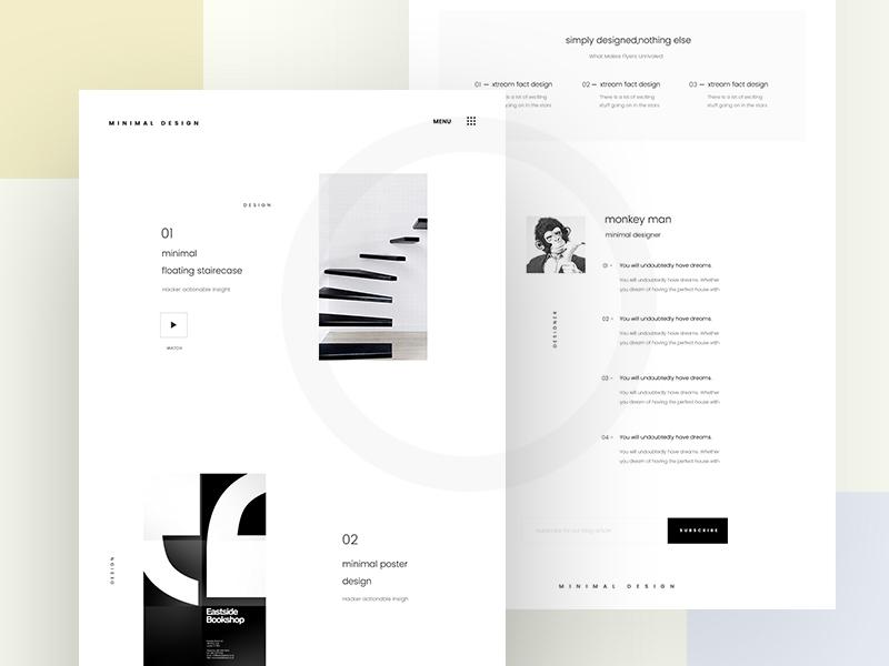 Mininal Design - Landing page  uiux typography ux ui web design minimal design landing page